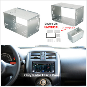 2DIN Metal Fascia Mounting Dash Kit for Car Radio DVD Stereo Installation Frame