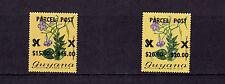 Guyana - 1981 Parcel Post Overprints - U/M - SG P1-2