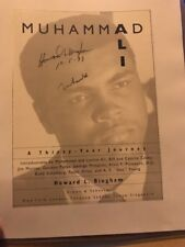 Muhammed Ali Signed Book Cover Page. Also Signed By Author  Bingham PSA/DNA
