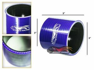 """3"""" Silicone Hose/Intake/Intercooler Pipe Straight Coupler BLUE For GMC/Hummer"""