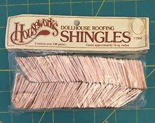 Houseworks Dollhouse #7004 Wooden Roofing Shingles 1/12th 1:12 Scale 100ct