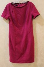 Elie Tahari Women's 6 Boat Neck Short Sleeve Sheath Dress Wool $348 ______ R19C1