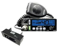 SET  President Barry II CB-Funkgerät 12/24 Volt mit DIN Schacht Einbauhalter
