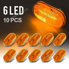 10x Amber 6LED Clearance 4 x 2 Side marker Camper Trailer RV Light Surface Mount