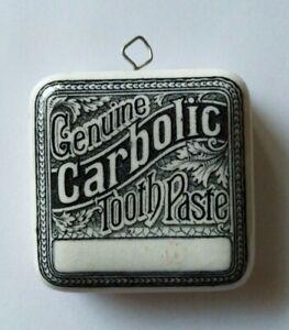 Antique Genuine Carbolic Tooth Paste Square Pot Lid
