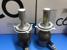 COPPIA LAMPADE AUTO MOTO C6 H4 LED 7600LM 72W 6000K BIANCO FREDDO FARI LAMPADINE