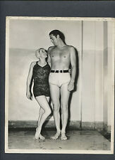JOHNNY ( TARZAN ) WEISSMULLER + ELEANOR HOLM - 1930s WATER SHOW BY BILLY ROSE