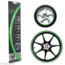 """GREEN"" Reflective Rim Stripe Decorative sticker for Car & Bike - Self Adhesive"
