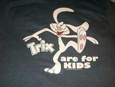 Trix are for Kids Silly Rabbit 2007 General Mills Gray T-shirt Mens Large Used