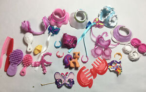 My Little Pony Lot 30 Dres Up + Other Shoes Skirt Shirt Brush Clips Mask Clothes