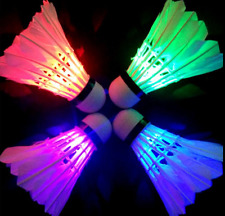 Badminton Sets LED Shuttlecock Colorful Dark Night LED Badminton Birdies 4 PC