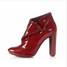 Louis Vuitton Red Patent Croc-embossed Delft Cornelia Boots/Booties SZ 37