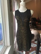 Forever 21 Black And Gold Sexy Dress Large