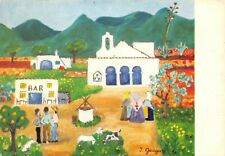 Vintage Art Postcard, Pintura Naif, Ingeborg Gauger, Spain, Spanish 40R