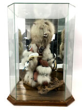 Signed Kweo The Wolf Kachina W/ Display Lot 1047