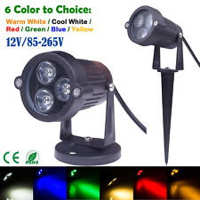 9W LED Landscape Garden Wall Path Outdoor Lighting Spot Light Lamp with Rod/Base