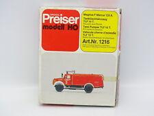 Preiser Kit da montare 1/87 HO Magirus F Mercur 125A Serbatoio Vigili del fuoco