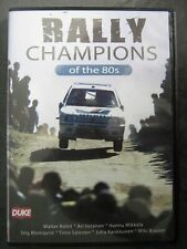 Rally Champions of the 80s Duke DVD Rohrl Mikkola Vatanen Blomqvist Kankkunen