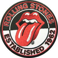 """ROLLING STONES AUFBÜGLER / EMBROIDERY PATCH # 3 """"ESTABLISHED 1962"""" - AUFNÄHER"""