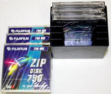 6 x FUJIFILM ZIP Disk 750MB für PC und Mac NEU + OVP in praktischer Zip-BOX TOP