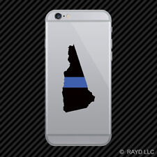 New Hampshire State Shaped The Thin Blue Line Cell Phone Sticker Mobile V2