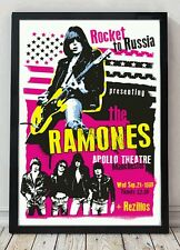 The Ramones original print artwork. Celebrating famous venues and gigs.