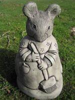 Miss Tittle Mouse Beatrix Potter stone garden ornament | <<VISIT MY SHOP>>