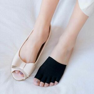 Women Breathable Mesh Half Palm Socks Sock Slippers Open Toe Socks Cotton