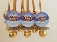 Prince Pacifier Necklace Baby Shower Game Favors 12 BLUE GOLD It's a Boy Decor