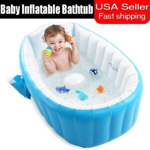 Baby Inflatable Bathtub Thick Portable Bathing Bath Tub For Kid Toddler Newborn