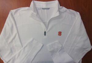 Cutter & Buck Syracuse University Orange Kingsgate Embossed DryTec Shirt XL NEW