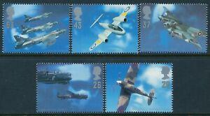 1997 GB BRITISH AIRCRAFT DESIGNERS SET OF 5 FINE MINT MNH SG1984-SG1988