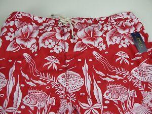 Polo Ralph Lauren Fish Floral Mesh Brief Swim Wear Trunks Shorts $85 NWT Ocean
