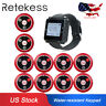 Retekess Wireless Guest Calling System 10*Pager 4Key for Restaurant Bars US Ship