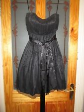 m&s black bridesmaid strapless dress size 16  brand new with tags