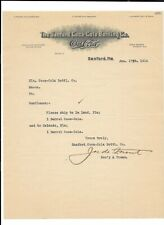 Vintage Illustrated Letterhead SANFORD COCA-COLA BOTTLING 1914 Sanford FL