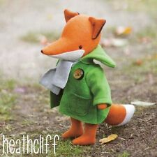 HEATHCLIFF FOX - Sewing Craft PATTERN - Soft Toy Felt Doll Bear Softies