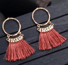 Fashion Stud Women Long Tassel Fringe Boho  Dangle Earrings Jewelry