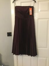 Karen Millen Aubergine Ascot Party Dress UK Size 14 New With Tags