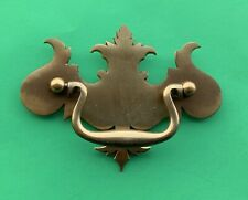 """1st CLASS    Antique Hardware Brass Chippendale Drawer Pull Handle 3""""center"""