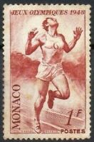 Monaco 1948 London Olympic Games 1 Fr Superb Mounted MINT Commemorative Stamp