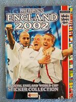 2002 - MERLIN - ENGLAND WORLD CUP 2002 ALBUM - 96% COMPLETE - V.G CONDITION