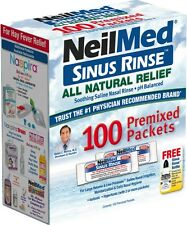 NeilMed Sinus Rinse All Natural Relief Premixed Refill Packets 100 Each (2 pack)