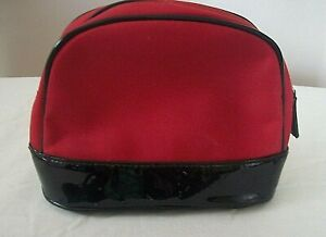 RED AND BLACK MAKE UP BAG