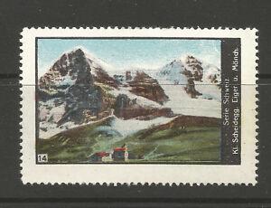 Switzerland poster stamp/label (#14 Kleine Scheidegg, Eiger & Munch)