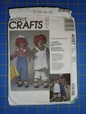 1989 McCALLS PATTERN #4097 - RAGGEDY ANN & ANDY COSTUMES - ADULT SMALL/32-34