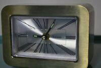 VINTAGE BULOVA BRASS FINISH ALARM CLOCK MODEL NO. 7RA105  DESK MANTLE 60s to 70s