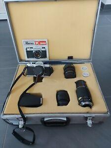 PENTAX K 1000 35mm Spiegelreflexkamera mit Zubehör