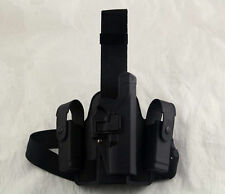 Tactical Drop Leg Thigh Right hand Holster W/Magazine Pouches Glock 17 19 23 31