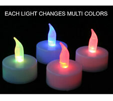 wholesale price !! 50 X Colour Changing LED Tea Lights Candles Battery operated